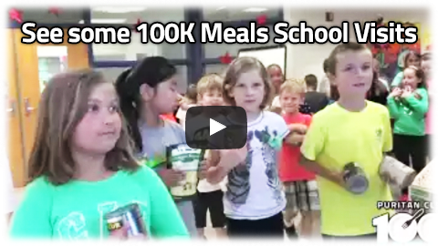 Puritan Cleaners' 100K Meals school visits