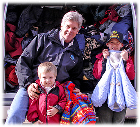 Puritan Cleaners Gary Glover and Coats For Kids