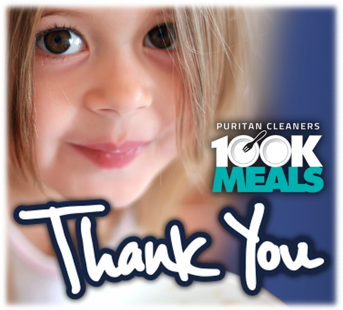 Puritan Cleaners 100K Meals Thank You