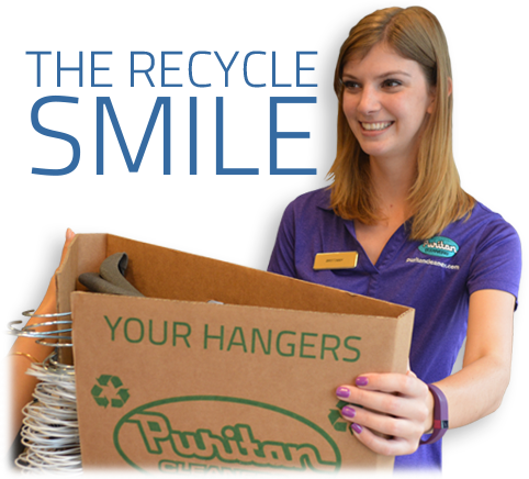 Puritan Cleaners recycles hangers