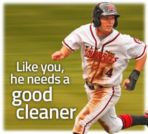 Puritan Cleaners is the Official Cleaner of the Flying Squirrels