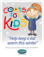 Puritan Cleaners Coats For Kids poster