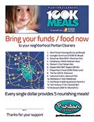 Puritan Cleaners 100K Meals Program flyer