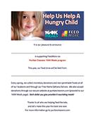 Puritan Cleaners 100K Meals Program parents letter
