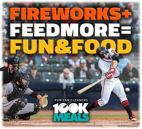 The Flying Squirrels support Puritan Cleaners 100K Meals