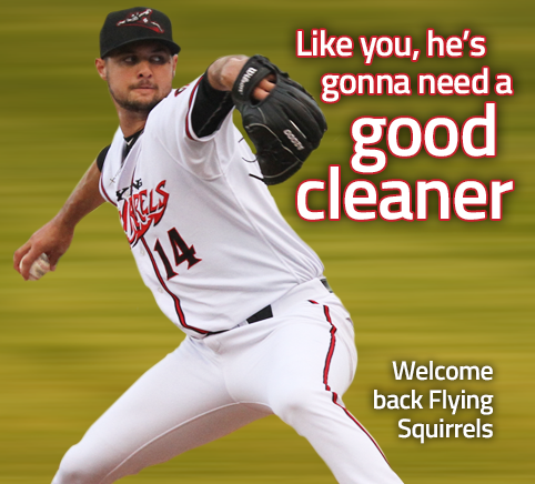 Puritan Cleaners is the Official Cleaner of the Richmond Flying Squirrels