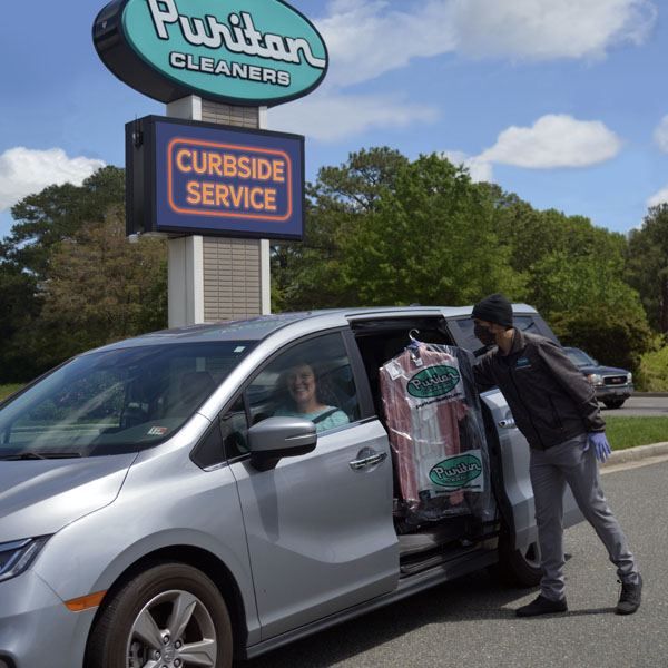 Curbside service from Puritan Cleaners