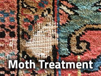 Rug moth treatment from Puritan Cleaners by Greenspring