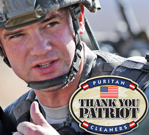 The Thank You Patriot program from Puritan Cleaners