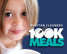 100K Meals program at Puritan Cleaners