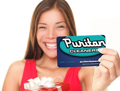 Gift cards from Puritan Cleaners