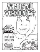 Puritan Cleaners 100K Meals Program coloring page