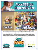 Puritan Cleaners 100K Meals Donation flyer