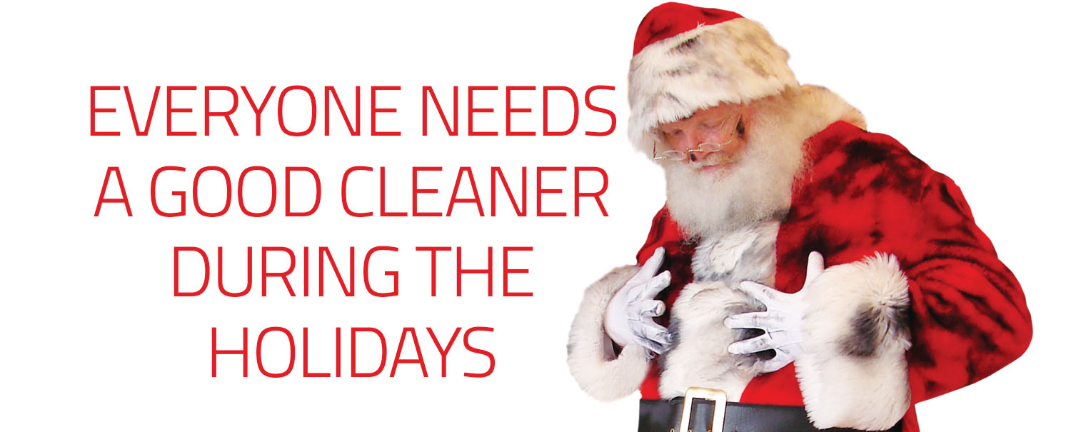 Santa says Merry Christmas from Puritan Cleaners
