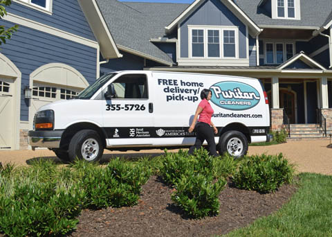 Rug pick-up and delivery from Puritan Cleaners by Greenspring