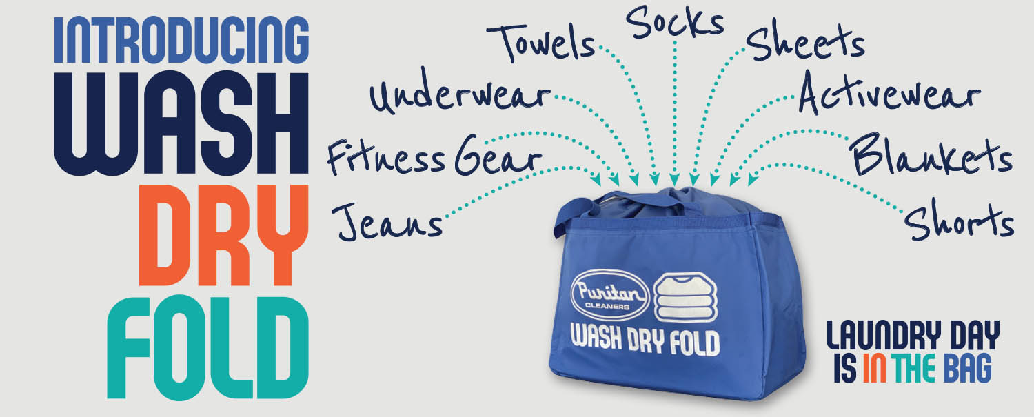 Wash Dry Fold service from Puritan Cleaners